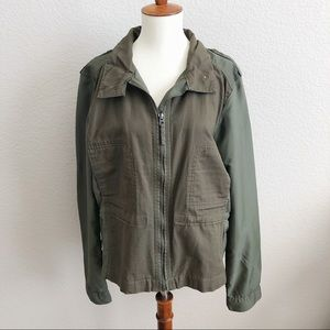 Lucky Brand Olive Green Utility Military Jacket XL